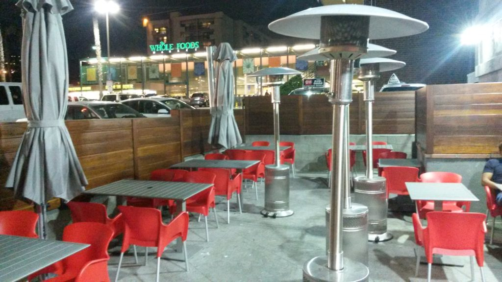 2-sided-modern-horizontal-wood-fence-for-restaurant-patio-area-1-of-2-built-and-stained-by-woodfenceexpert-com