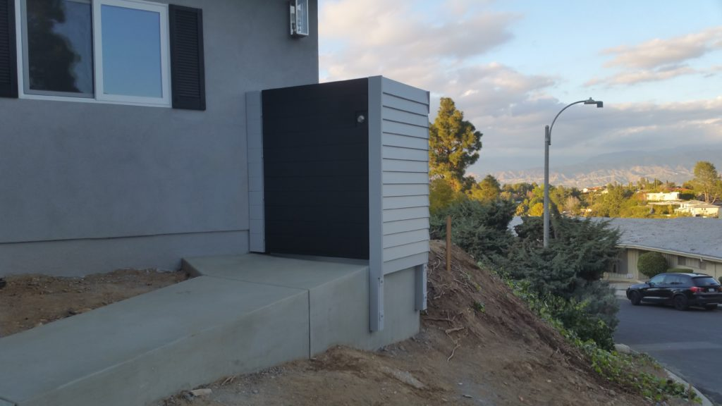 Modern Horizontal Wood Fence + Pedestrian Gate, 6 of 8, Studio City, 91604; Built and Painted by WoodFenceExpert.com