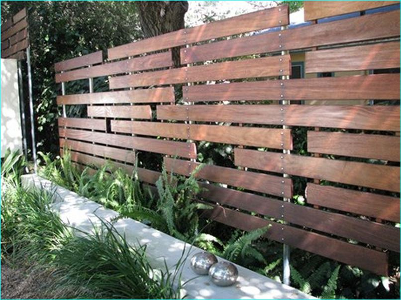 Sample Ipe Horizontal Wood Fence
