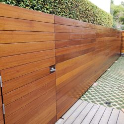 Ipe Horizontal Wood Fence?  Why not Mahogany?